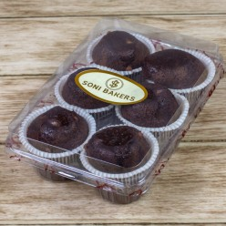 EGGLESS CHOCOLATE MUFFINS (6 Pcs.)
